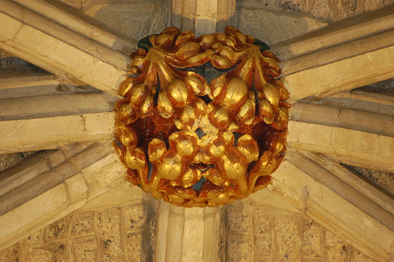 File:Ceiling boss in Malmesbury Abbey.jpg