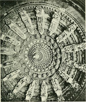Vaghela dynasty - Ceiling of one of Dilwara Jain Temples