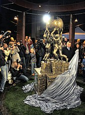 Celebration of the Wikipedia monument in Słubice – unveiling (DerHexer) 10.jpg