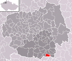 Location of Černouček