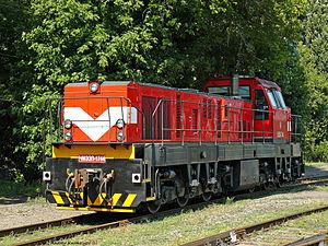 Popasna - A locomotive on Popasna railway station