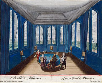 Mediation - Mediator's chamber at Ryswick (1697)