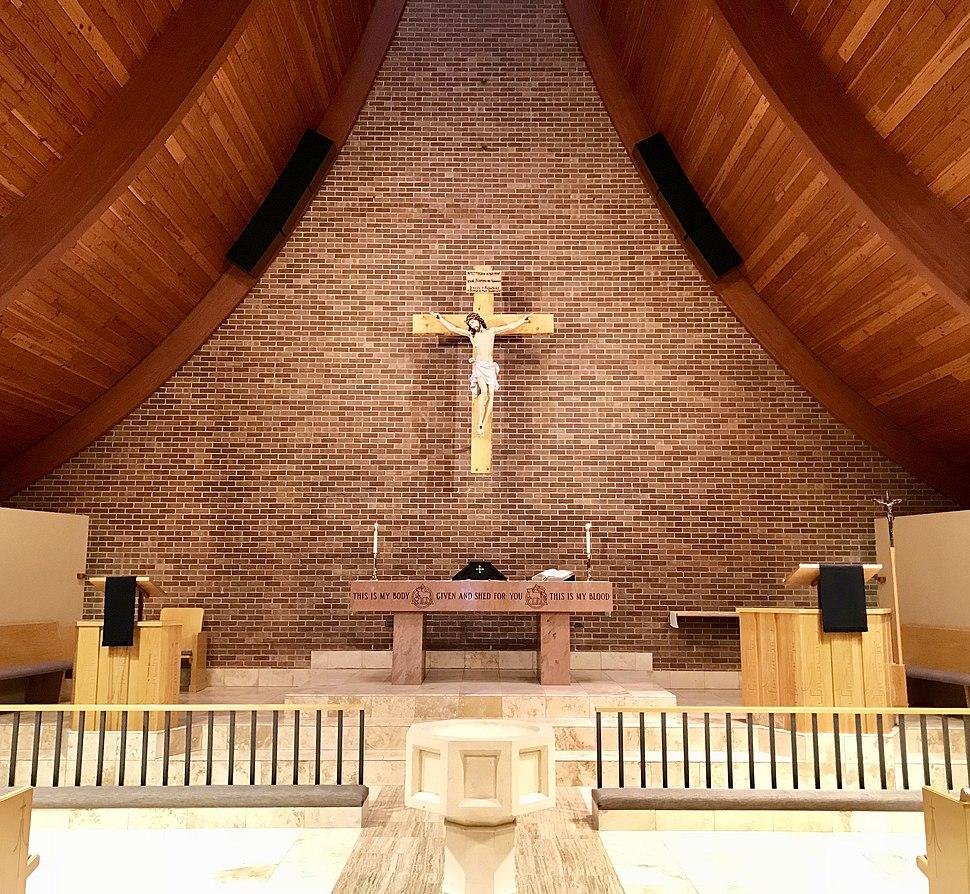 Chancel of Trinity Lutheran Church on Holy Saturday