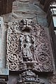 Chandramouleshwar Temple, God carved in Chalukya style on the outer walls of the temple.jpg