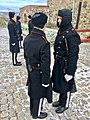 Changing of the guard (HMKG, Royal Guards) at Akershus fortress, Oslo, Norway. Winter uniforms. 2017-11-30 h.jpg