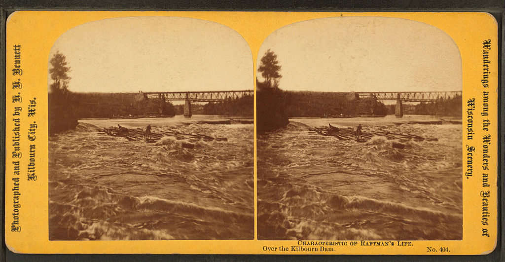 File:Characteristic of Raftman's Life. Over the Kilbourne Dam, by ...