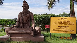 English: Charak Monument in Yog Peeth Campus,F...