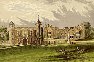 Cameron-Ramsay-Fairfax-Lucy baronets - Charlecote Park circa 1880, the former seat of the Cameron-Ramsay-Fairfax-Lucy family