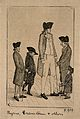 Charles Byrne, a giant, George Cranstoun, a dwarf, and three Wellcome V0007444.jpg