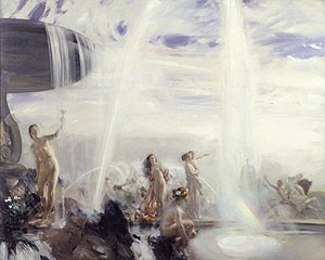 Charles Sims (painter) - The Fountain (1907/8)