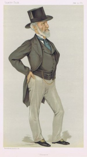"Sir Charles Tennant, 1st Baronet - ""Glasgow"" Tennant as caricatured in Vanity Fair, June 1883"