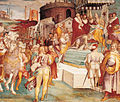 Charles V announcing the capture of Tunis to the Pope in 1535.jpg