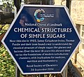 Chemical structure of simple sugars plaque, St Andrews, Fife, Scotland.jpg