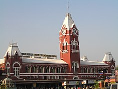The landmark Chennai Central Railway Terminus