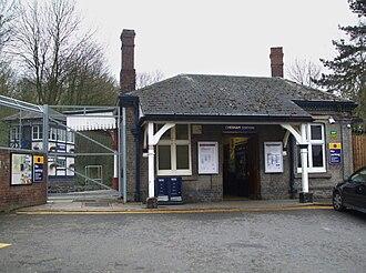 Chesham tube station - Station entrance