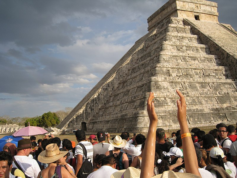 File:Chichen Itza Temple of Kukulcan Serpent.JPG