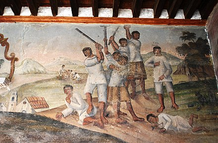 16th century mural of child martyrs at Ozumba ChildMartyrsOzumba.JPG