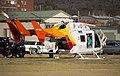 Child Flight (VH-BKZ) Eurocopter-Kawasaki BK-117B-2 at the Duke of Kent Oval Helipad (1).jpg