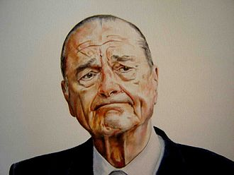 Jacques Chirac - Jacques Chirac. Portrait by Donald Sheridan.