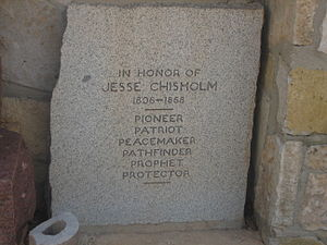 Jesse Chisholm - Monument to Jesse Chisholm in Bandera, Texas