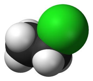 Chloroethane - Image: Chloroethane 3D vd W