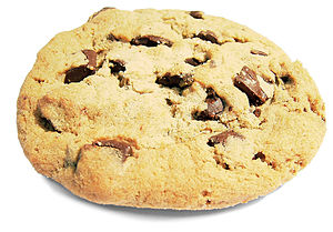 A chocolate chip cookie.