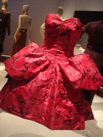 "Christian Lacroix - A Christian Lacroix gown on display in the ""CONTRO-MODA"" exhibition in Florence, Italy, at Palazzo Strozzi in 2007."
