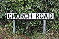 Church Road sign, Downpatrick, February 2010.JPG