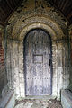 Church at Mashbury, Essex, England, Norman nave portal.JPG
