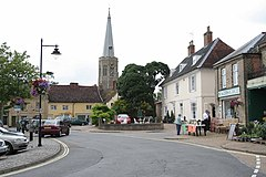 Church spire and square Wickham market - geograph.org.uk - 886241.jpg