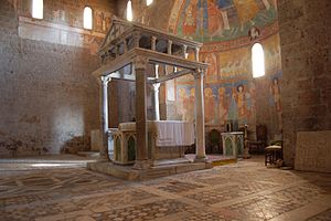 Castel Sant'Elia - Ciborium in the Basilica of Sant'Elia.