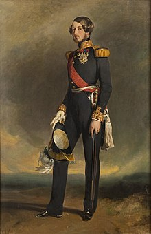 Circa 1845 portrait of Prince August of Saxe-Coburg and Gotha by Winterhalter (Versailles)2.jpg