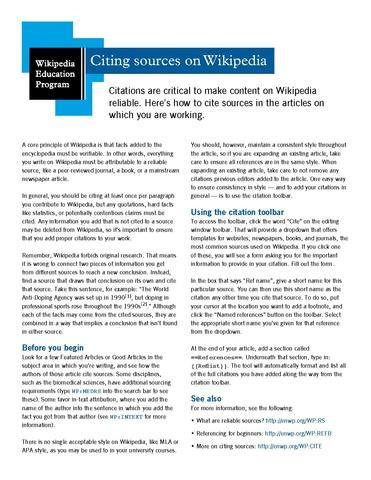 Cites and sources pdf creator