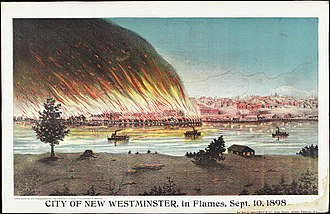 New Westminster - City of New Westminster in flames, Sept. 10, 1898