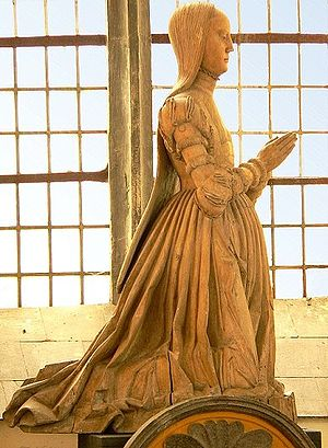 Clara of Saxe-Lauenburg - Clara of Saxe-Lauenburg, wood sculpture in Gifhorn's palace chapel