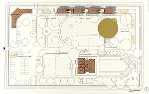 William Andrews Clark Memorial Library - Image: Clark library site plan