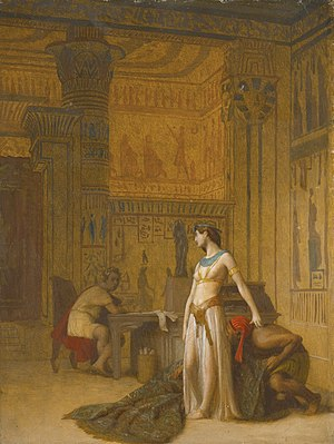 Cleopatra and Caesar (painting) - One of two alternate versions