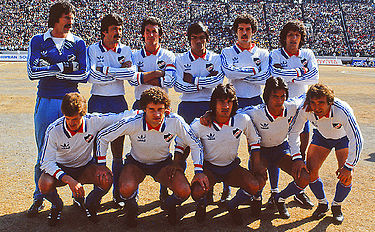 The 1980 team that won both, Copa Libertadores and the first edition of Copa Intercontinental played in Tokio. Club Nacional de Football del ano 1980.jpg