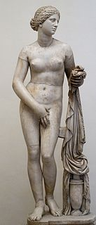 sculpture of Greek sculptor Praxiteles of Athens