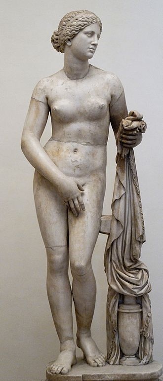 Epigrams (Plato) - The Ludovisi Cnidan Aphrodite, a Roman marble copy of the original Aphrodite of Knidos, sculpted by Praxiteles and referred to in epigram 17
