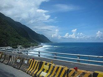 Fengbin - Hualien-Taitung Coastal Highway passing through Fengbin Township