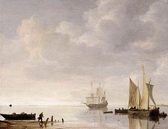 Simon de Vlieger - Coastal Scene