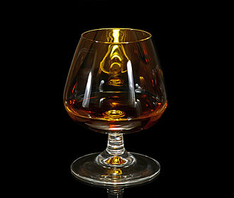 Brandy - Cognac brandy in a typical snifter