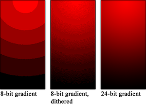 Colour banding - An illustration of colour banding (disable browser zoom to see image without rescaling)