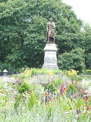 German Village - Statue of Friedrich von Schiller in Schiller Park