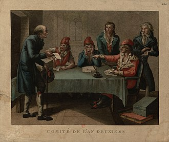 Revolutionary sections of Paris - One section's revolutionary committee in 1793.