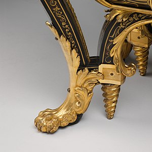 André Charles Boulle - Commode by André-Charles Boulle, son of Jean Boulle - Detail