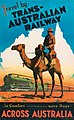 Commonwealth Railways poster -- Travel by Trans-Australian Railway, ca 1940.jpg