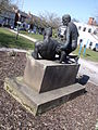 Compassion - Statue outside the Selly Oak Hospital Out-Patients Department (4413183905) (2).jpg