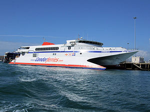 Condor 10 Boat In Weymouth Ferry Terminal - Dorset..jpg